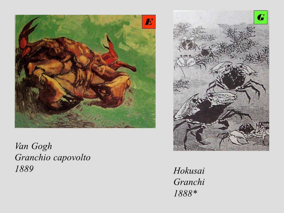 Van Gogh Granchio capovolto 1889 Hokusai Granchi 1888* E G