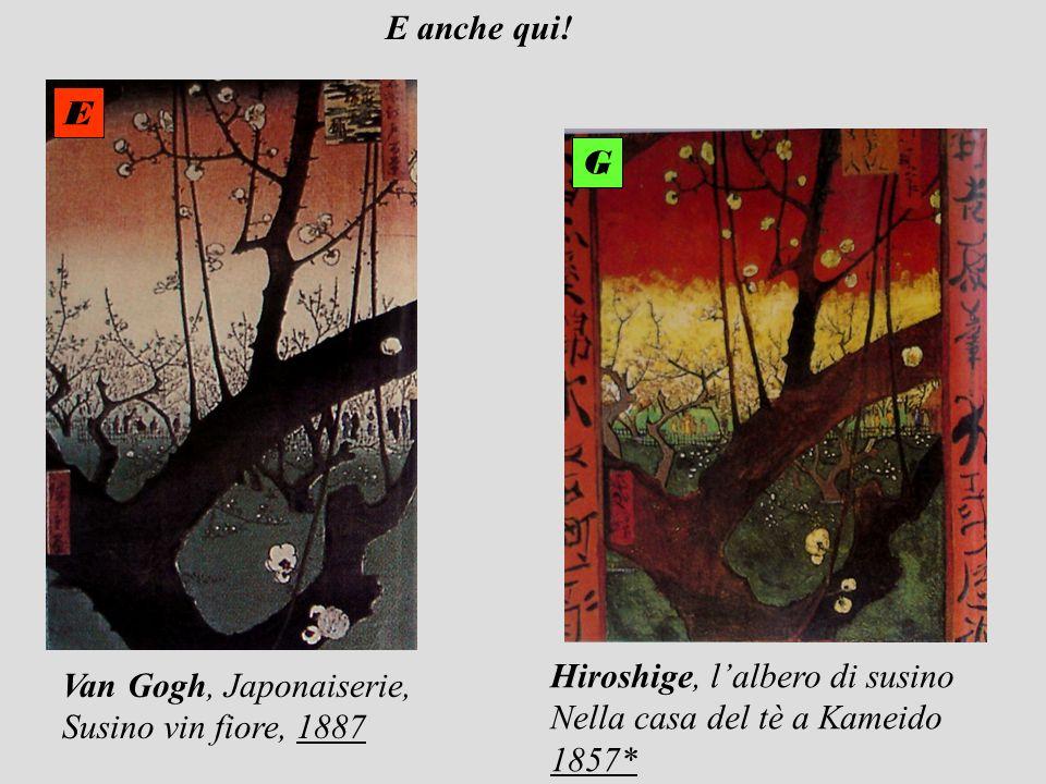 Van Gogh, Japonaiserie, Susino vin fiore, 1887 Hiroshige, lalbero di susino Nella casa del tè a Kameido 1857* E G E anche qui!