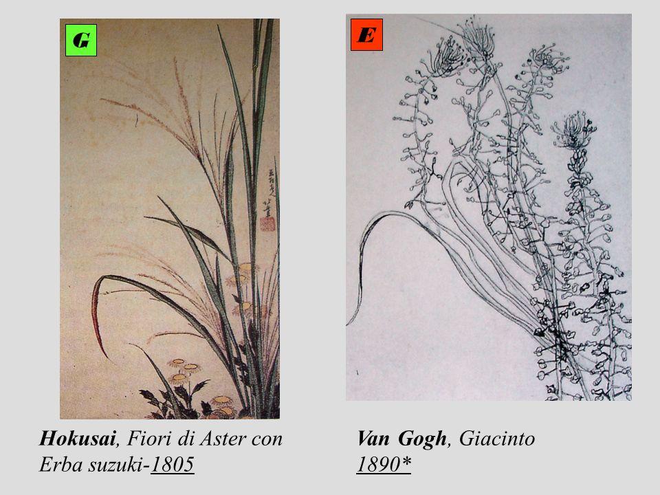 Hokusai, Fiori di Aster con Erba suzuki-1805 Van Gogh, Giacinto 1890* E G
