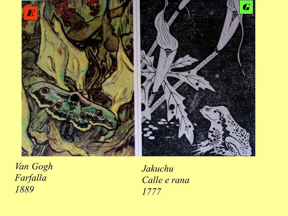 Van Gogh Farfalla 1889 Jakuchu Calle e rana 1777 E G