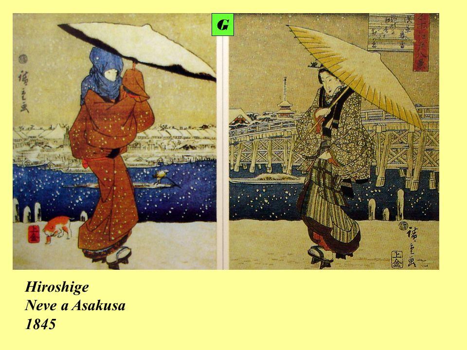 Hiroshige Neve a Asakusa 1845 G