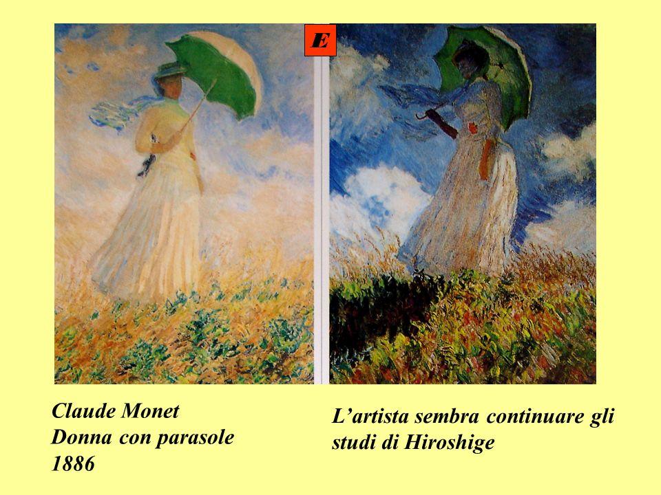 Claude Monet Donna con parasole 1886 Lartista sembra continuare gli studi di Hiroshige E