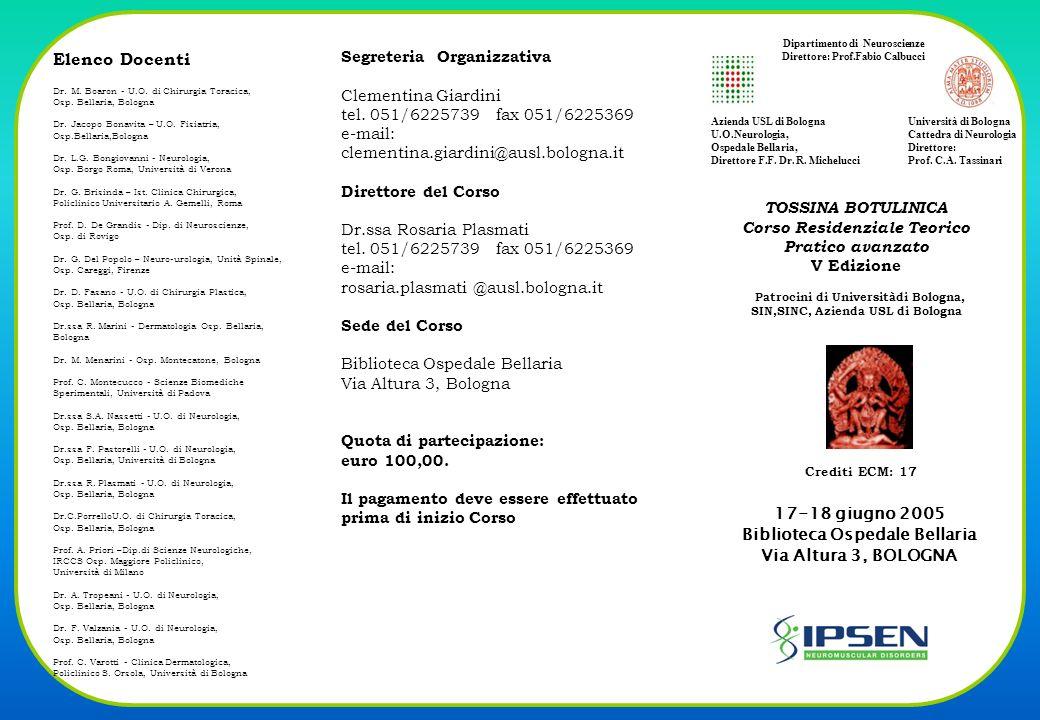 Elenco Docenti Dr.M. Boaron - U.O. di Chirurgia Toracica, Osp.