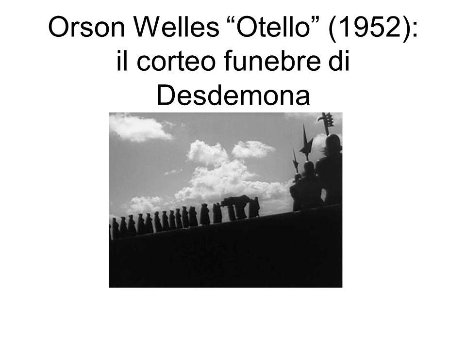 Orson Welles Otello (1952): il corteo funebre di Desdemona