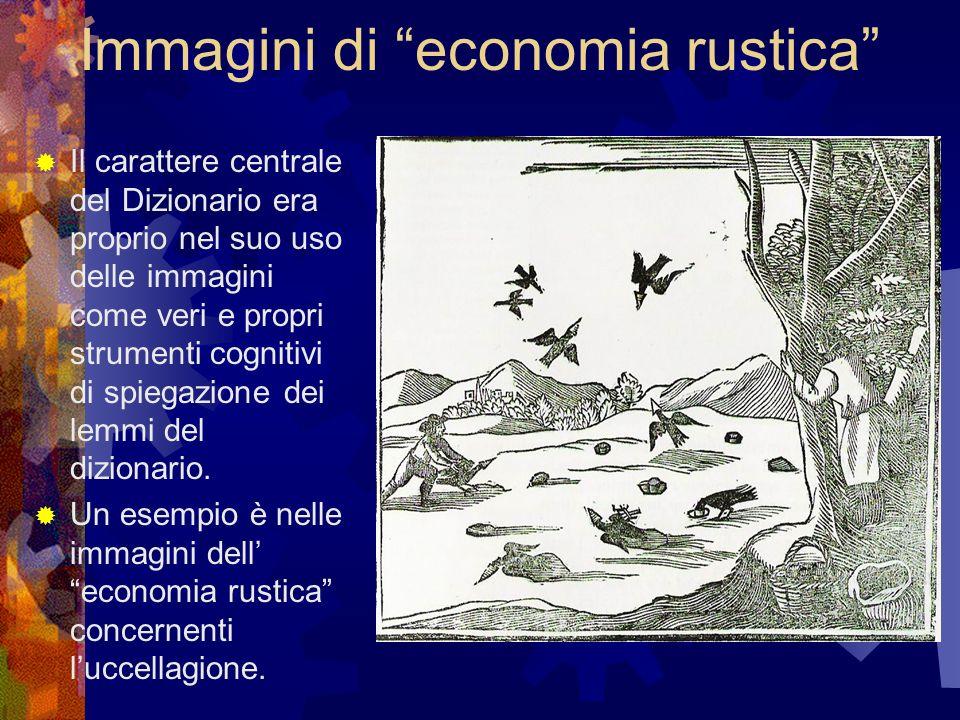 Immagini di economia rustica Il carattere centrale del Dizionario era proprio nel suo uso delle immagini come veri e propri strumenti cognitivi di spi