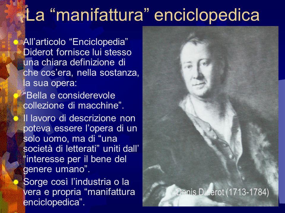 La manifattura enciclopedica Allarticolo Enciclopedia Diderot fornisce lui stesso una chiara definizione di che cosera, nella sostanza, la sua opera: