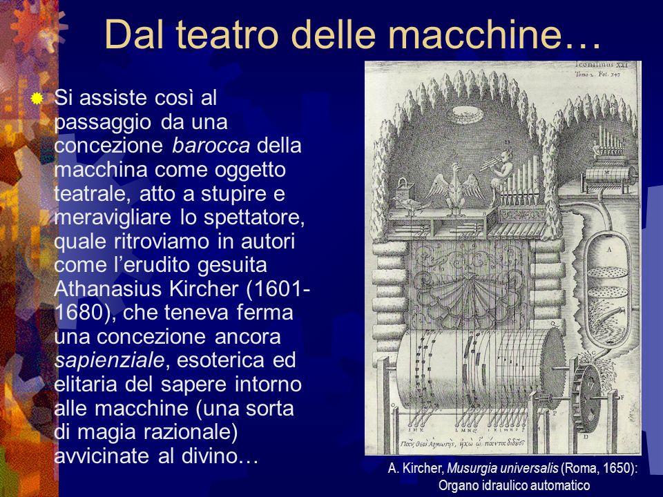Dal teatro delle macchine… Si assiste così al passaggio da una concezione barocca della macchina come oggetto teatrale, atto a stupire e meravigliare