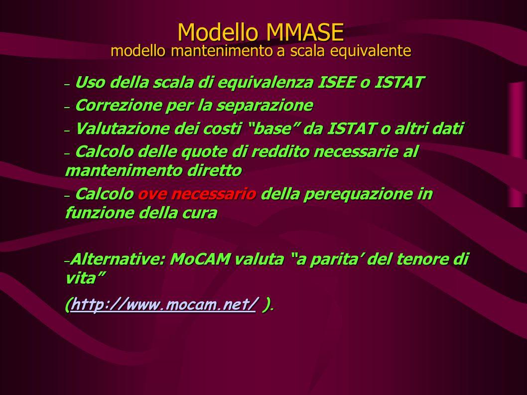 La scala ISEE De Santis – Maltagliati La scala ISEE è quella utilizzata nella tab.