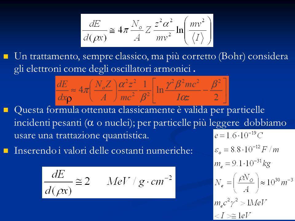 53 Un trattamento, sempre classico, ma più corretto (Bohr) considera gli elettroni come degli oscillatori armonici.