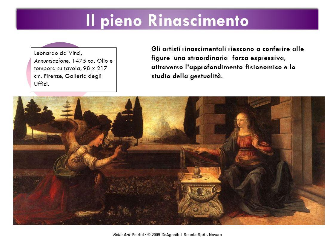 Belle Arti Petrini © 2009 DeAgostini Scuola SpA - Novara Il pieno Rinascimento Leonardo da Vinci, Annunciazione.