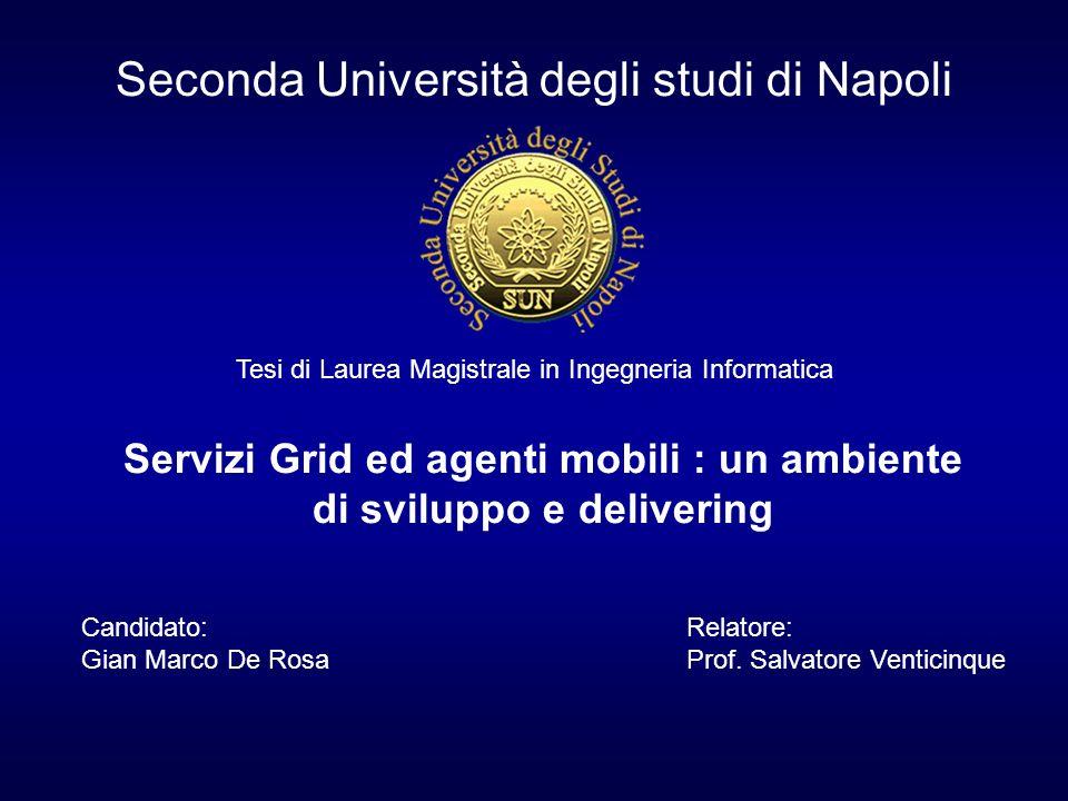 Seconda Università degli studi di Napoli Tesi di Laurea Magistrale in Ingegneria Informatica Servizi Grid ed agenti mobili : un ambiente di sviluppo e