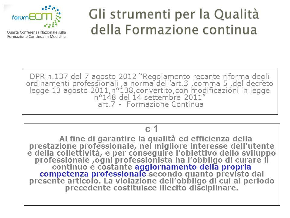 DPR n.137 del 7 agosto 2012 Regolamento recante riforma degli ordinamenti professionali,a norma dellart.3,comma 5,del decreto legge 13 agosto 2011,n°1