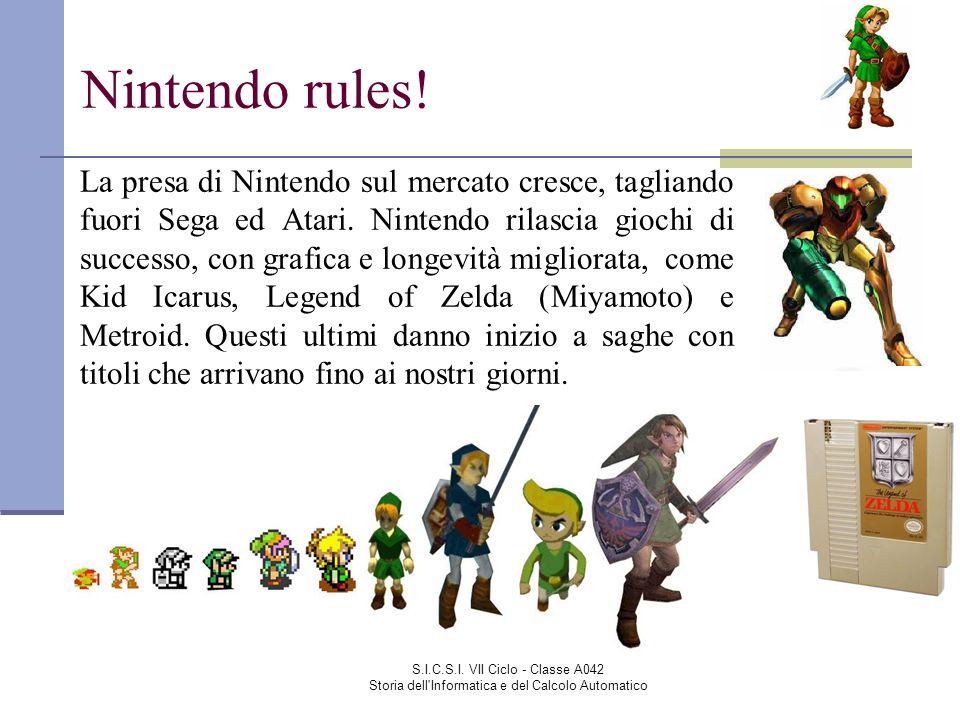 S.I.C.S.I. VII Ciclo - Classe A042 Storia dell'Informatica e del Calcolo Automatico Nintendo rules! La presa di Nintendo sul mercato cresce, tagliando