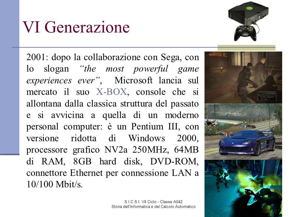 S.I.C.S.I. VII Ciclo - Classe A042 Storia dell'Informatica e del Calcolo Automatico VI Generazione 2001: dopo la collaborazione con Sega, con lo sloga
