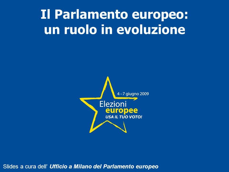Il Parlamento europeo: un ruolo in evoluzione Slides a cura dell Ufficio a Milano del Parlamento europeo