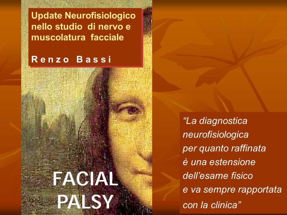 Update Neurofisiologico nello studio di nervo e muscolatura facciale R e n z o B a s s i La diagnostica neurofisiologica per quanto raffinata è una estensione dellesame fisico e va sempre rapportata con la clinica