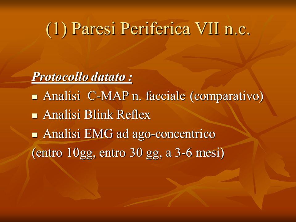 (1)Paresi Periferica VII n.c.