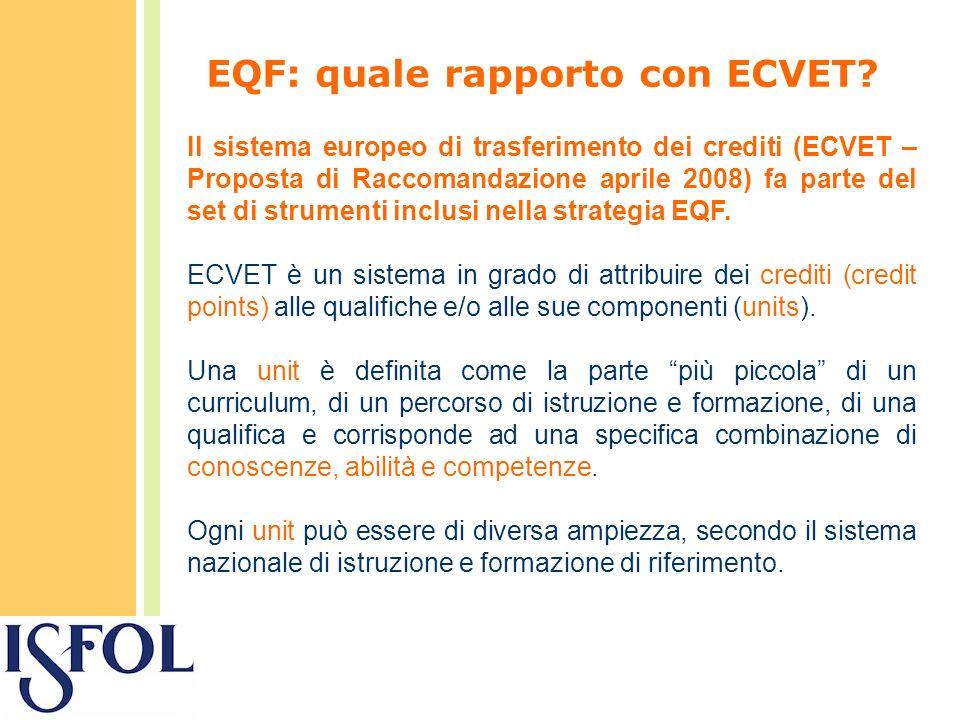 EQF: quale rapporto con ECVET.