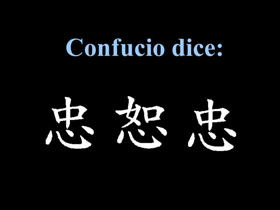 Confucio dice: