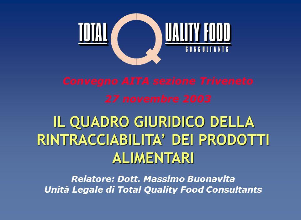 IL VISTO SI STAMPI DELLA RINTRACCIABILITA Con Il VISTO SI STAMPI legale, TOTAL QUALITY FOOD si assume la responsabilità di tutte le indicazioni riportate sulletichetta, comprese quelle relative alla rintracciabilità.