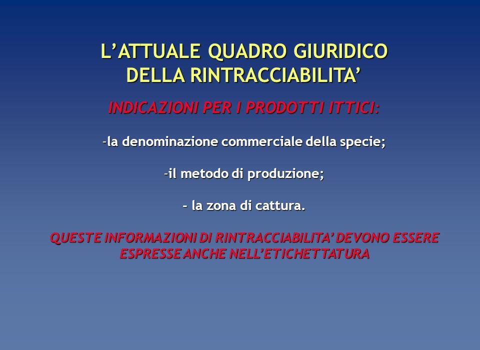 LA RINTRACCIABILITA COME GRANDE OPPORTUNITA COMUNICATIVA SOLTANTO LUNIONE DI SPECIFICHE COMPETENZE LEGALI, SCIENTIFICHE E DI MARKETING PERMETTERA DI GARANTIRE LA RINTRACCIABILITA: 1 - soddisfacendo i complessi obblighi giuridici, 2 - predisponendo le adeguate procedure tecniche, 3 - sfruttando le opportunità comunicative, 4 - realizzando unetichettatura corretta e completa dal punto di vista legale, e al tempo stesso efficace da quello di marketing