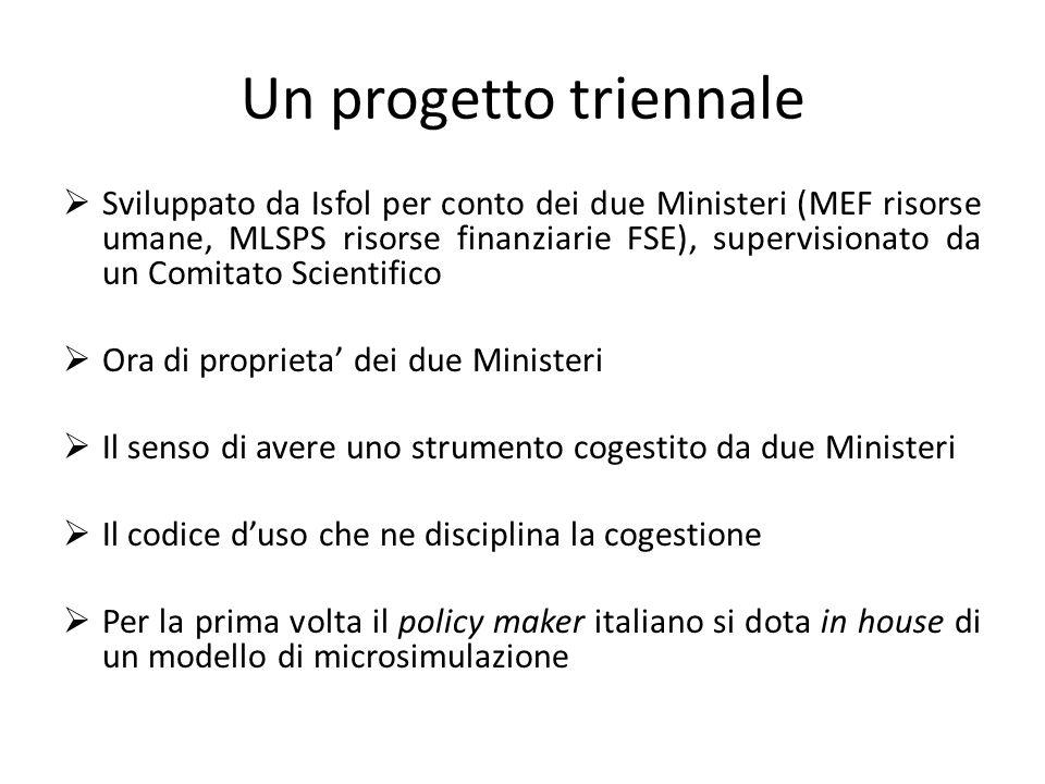 Un progetto triennale Sviluppato da Isfol per conto dei due Ministeri (MEF risorse umane, MLSPS risorse finanziarie FSE), supervisionato da un Comitat