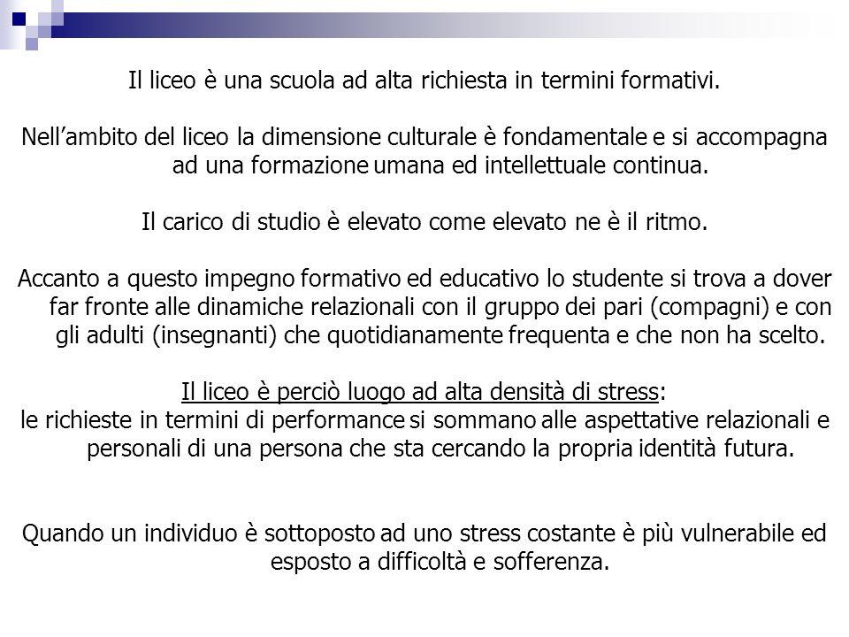 LA RISPOSTA DEL LICEO CORRADINI al disagio adolescenziale Dal gennaio 2007 il Liceo Corradini offre consulenza psicologica gestita da esperto del settore (psicologo- psicoterapeuta) agli studenti.