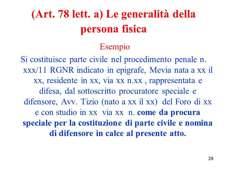26 (Art. 78 lett.