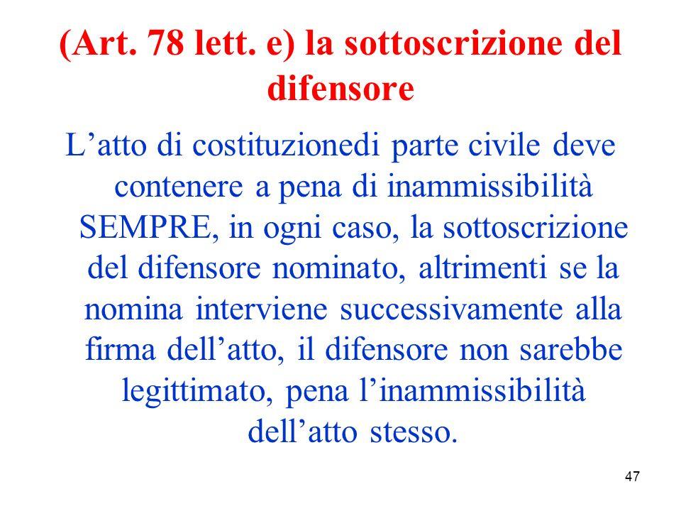 47 (Art. 78 lett.