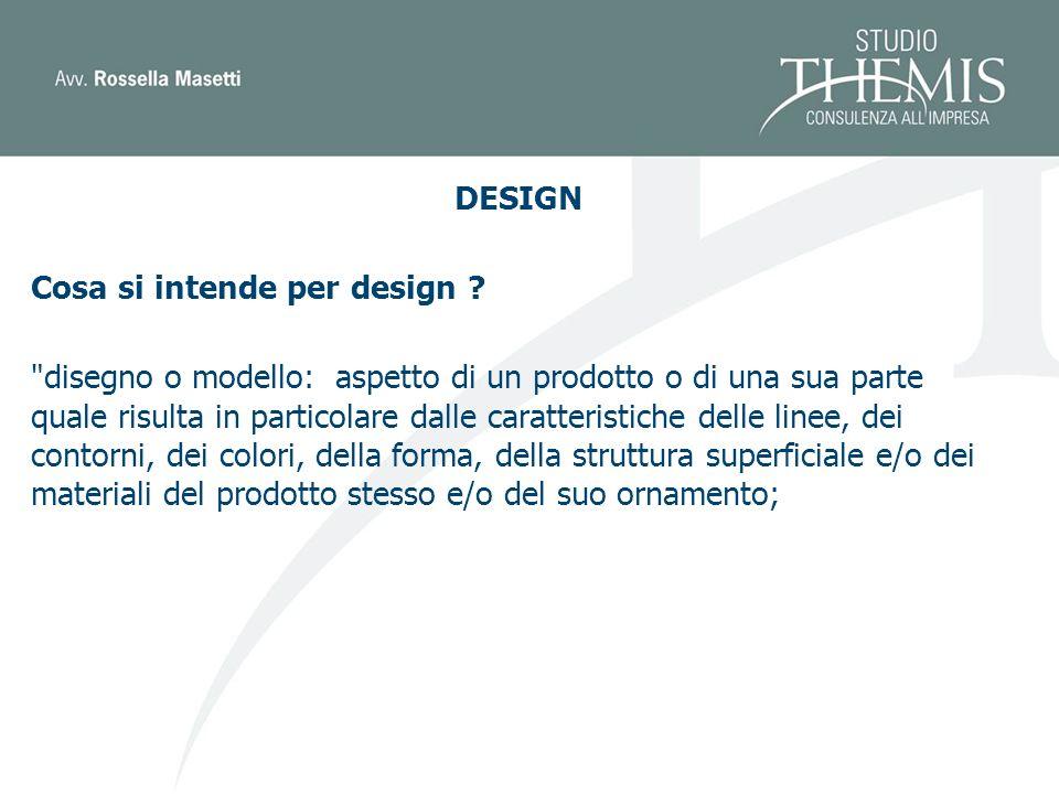 DESIGN Cosa si intende per design .