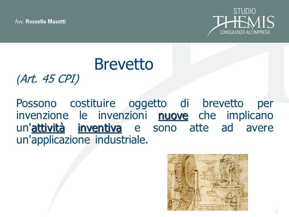 7 Brevetto ( Art.