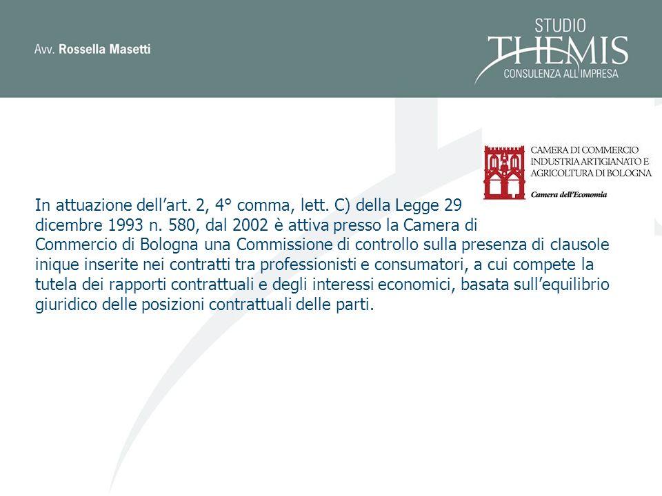 In attuazione dellart.2, 4° comma, lett. C) della Legge 29 dicembre 1993 n.