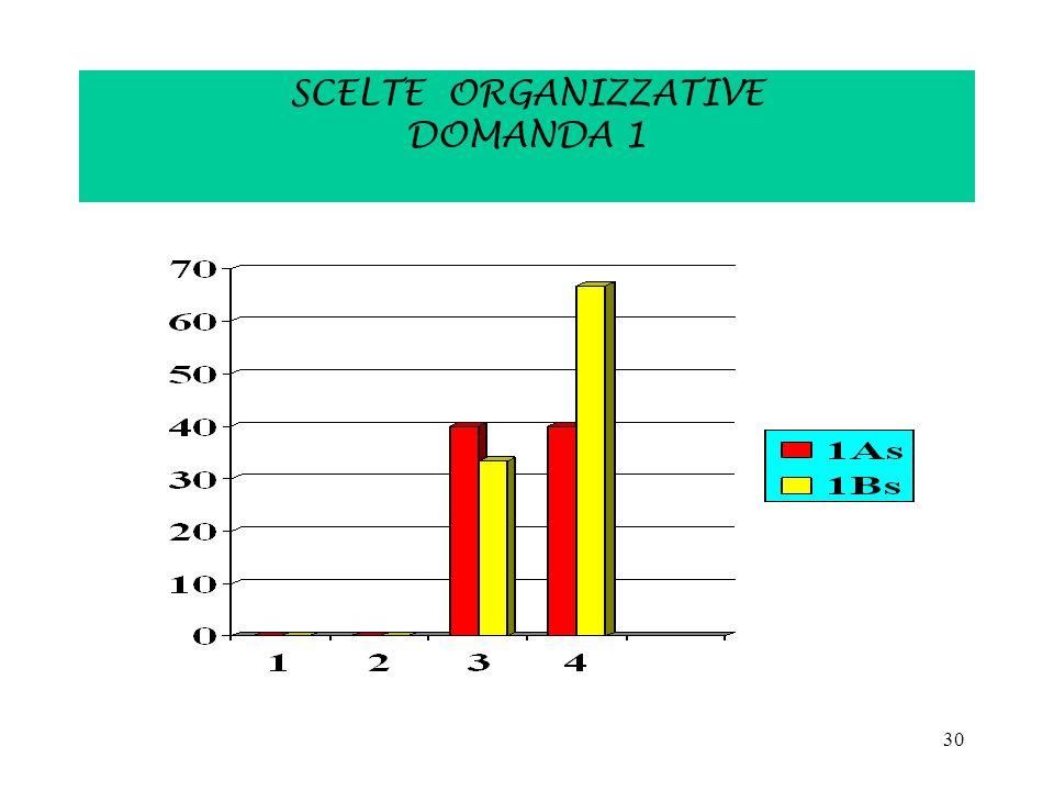 30 SCELTE ORGANIZZATIVE DOMANDA 1