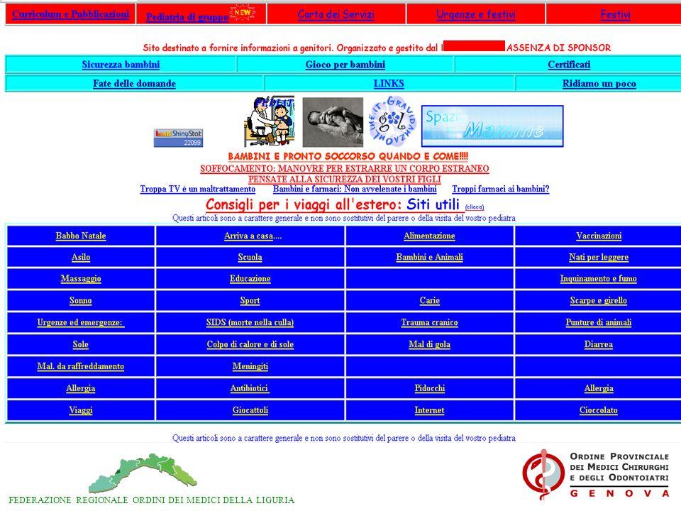 FEDERAZIONE REGIONALE ORDINI DEI MEDICI DELLA LIGURIA Gli operatori sanitari DEBBONO essere messi In condizione di essere informati e di comunicare rapidamente tra loro U.R.M.