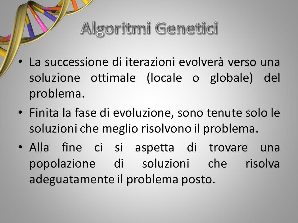 La successione di iterazioni evolverà verso una soluzione ottimale (locale o globale) del problema. Finita la fase di evoluzione, sono tenute solo le