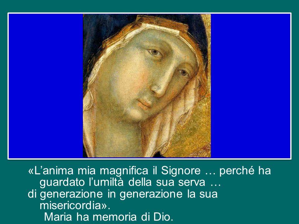 Al contrario, dopo aver accolto lannuncio dellAngelo e aver concepito il Figlio di Dio, che cosa fa? Parte, va dallanziana parente Elisabetta, anchess