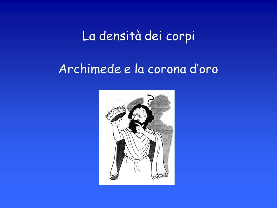 Archimede e la corona doro La densità dei corpi