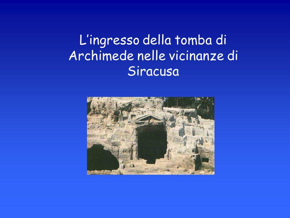Lingresso della tomba di Archimede nelle vicinanze di Siracusa