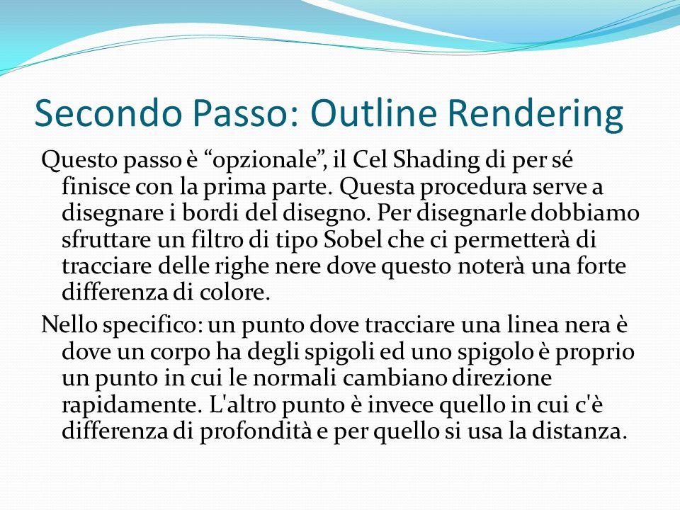 Secondo Passo: Outline Rendering Questo passo è opzionale, il Cel Shading di per sé finisce con la prima parte. Questa procedura serve a disegnare i b
