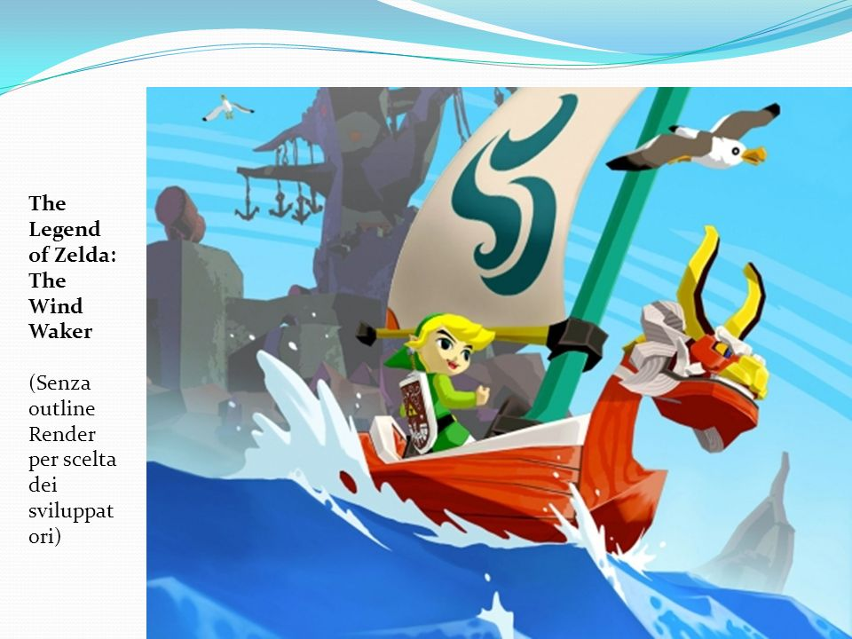 The Legend of Zelda: The Wind Waker (Senza outline Render per scelta dei sviluppat ori)