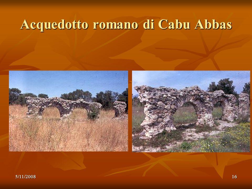 5/11/200816 Acquedotto romano di Cabu Abbas