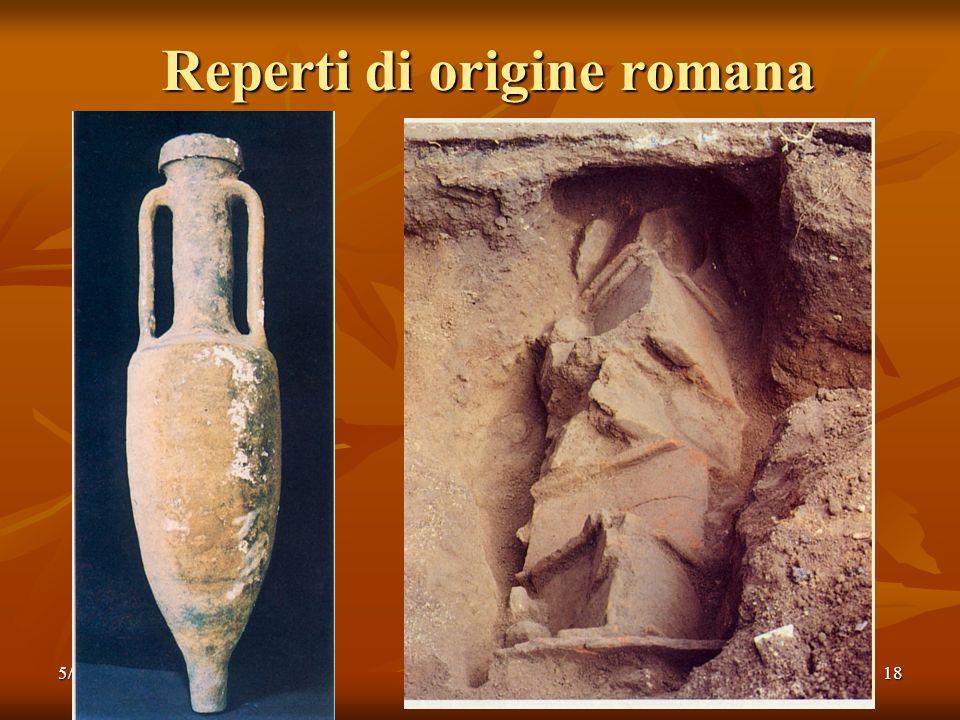 5/11/200818 Reperti di origine romana