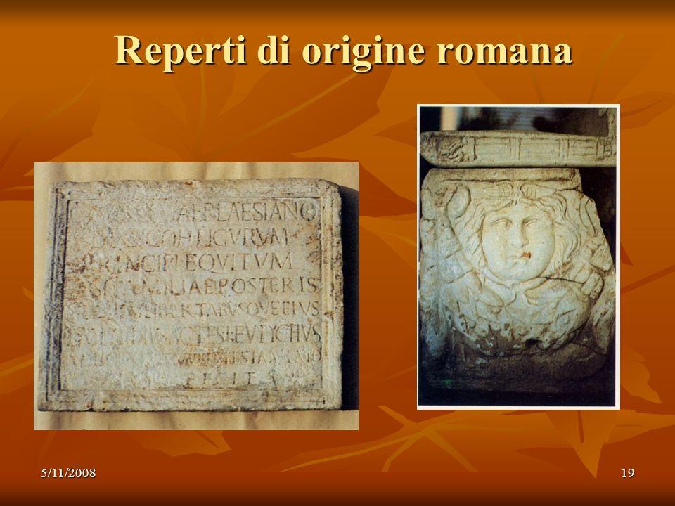 5/11/200819 Reperti di origine romana