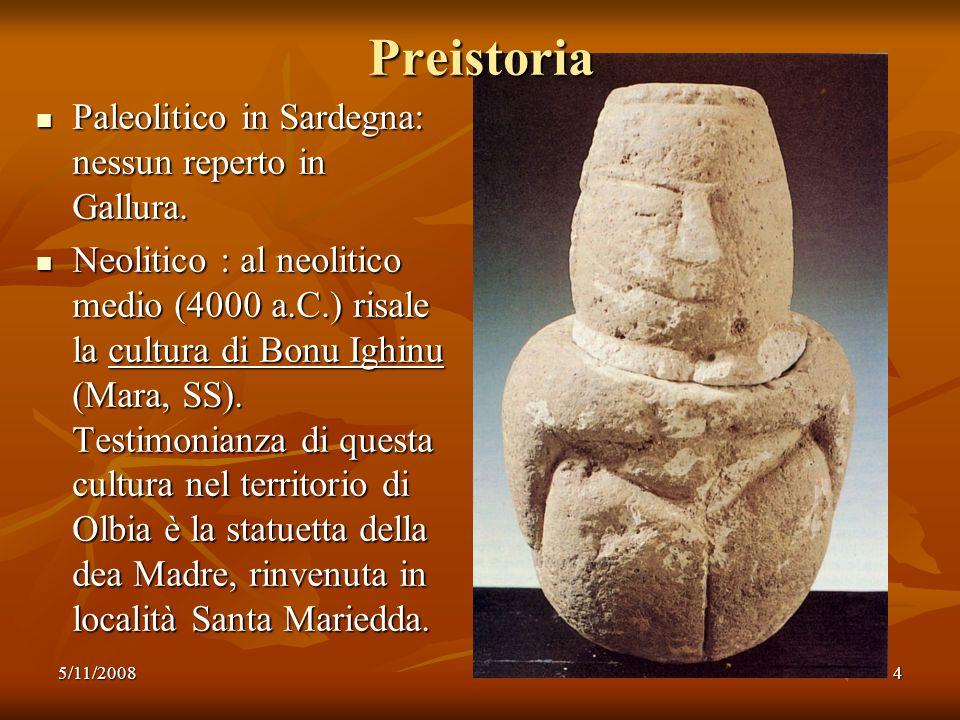 5/11/200815 Olbia romana Lanno della conquista romana della Sardegna è il 238 a.C.