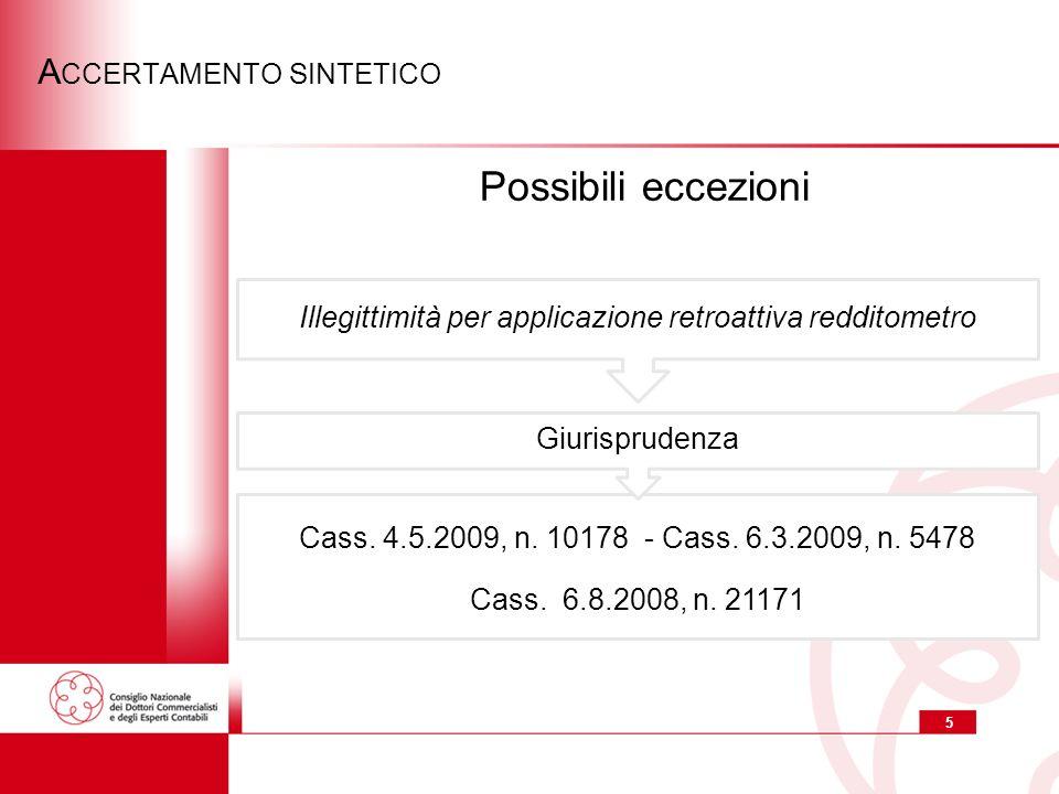 5 A CCERTAMENTO SINTETICO Cass.4.5.2009, n. 10178 - Cass.