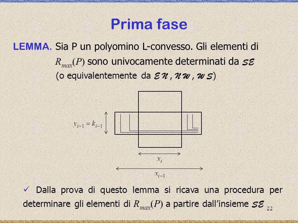 23 Seconda fase Due procedure che determinano Ω Ω OMEGA 1 ( SE, E N ) OMEGA 2 ( SE, WS ) Ω Determinare la reciproca posizione di due rettangoli massimali significa stabilire quale tipo di intersezione crossing hanno.
