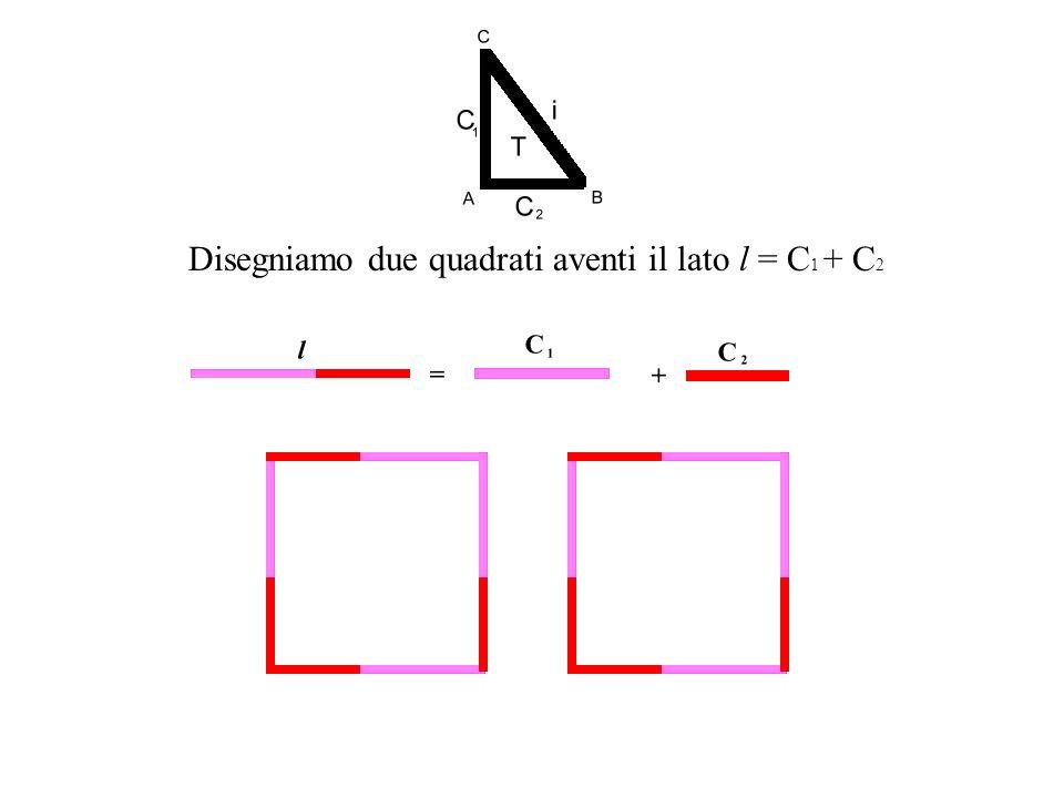 Disegniamo due quadrati aventi il lato l = C 1 + C2C2