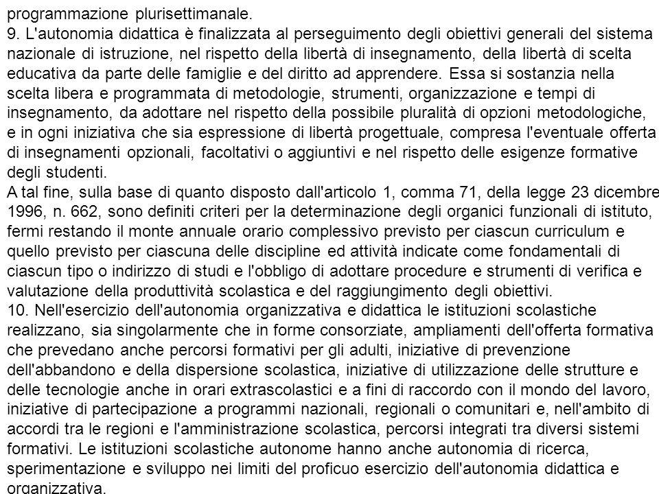 programmazione plurisettimanale.9.