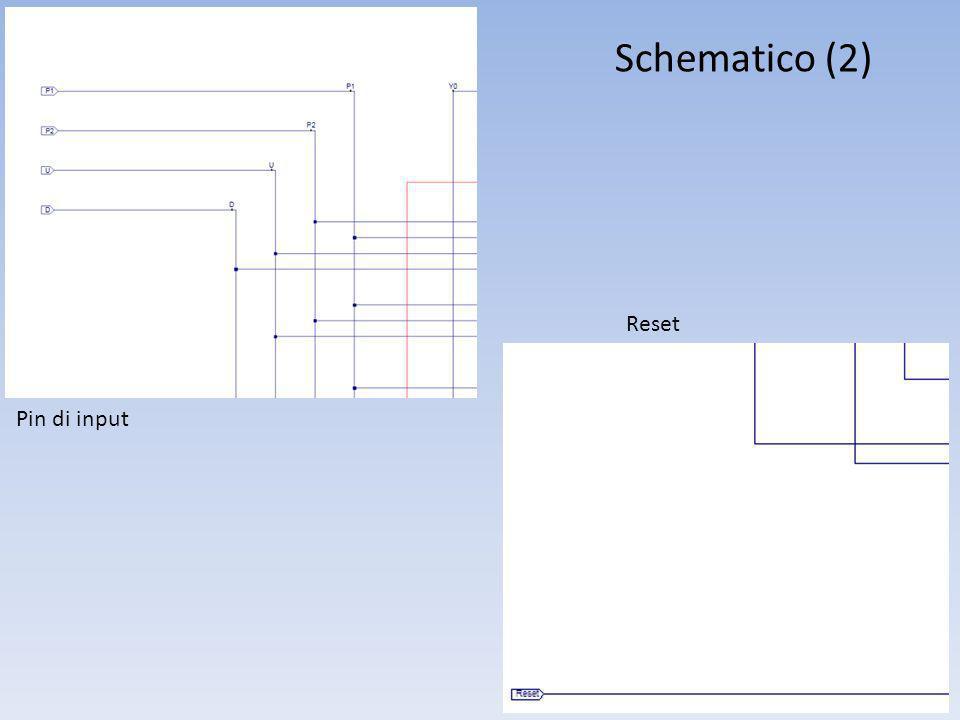 Schematico (2) Pin di input Reset