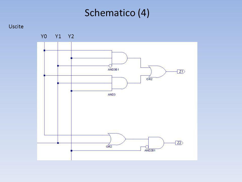 Schematico (4) Y0 Y1 Y2 Uscite
